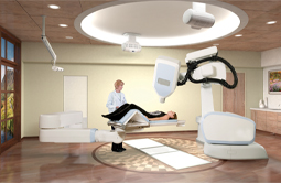 Cyber knife robotic radiation treatment