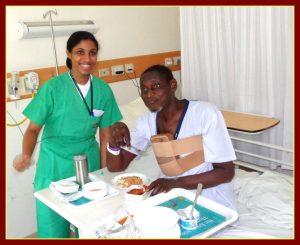 Rwanda Patient getting treatment in India